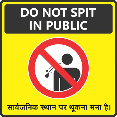 Do not Spit in public